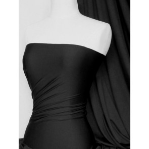 Black 4 Way Stretch Micro Lycra Jersey Fabric Q259 BK