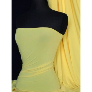 Banana Yellow 4 Way Stretch Micro Lycra Jersey Fabric Q259 BNYL