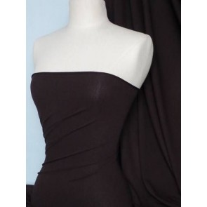 Chocolate Crepe 4 Way Stretch Jersey Fabric Q263 CH