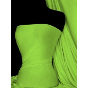 Neon Green Viscose Cotton Stretch Lycra Fabric Q300 NGR