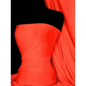 Neon Orange Viscose Cotton Stretch Lycra Fabric Q300 NOR