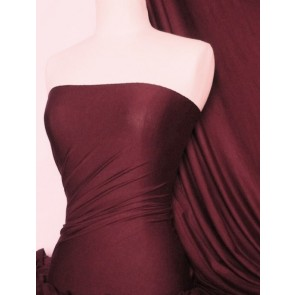 Wine Viscose Cotton Stretch Lycra Fabric Q300 WN