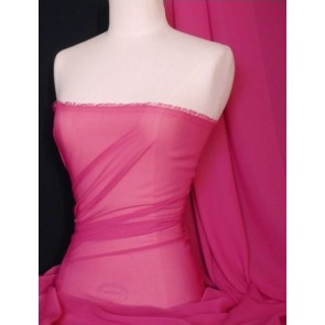 Cerise Soft Touch Chiffon Sheer Fabric Q354 CRS