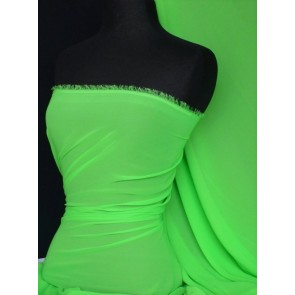Flo Green Soft Touch Chiffon Sheer Fabric Q354 FLGRN