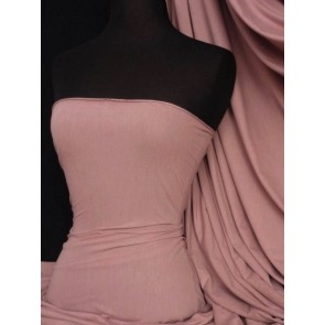 Dusky Pink Cotton Lycra Jersey 4 Way Stretch Material Q35 DPN