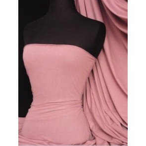 Rose Pink Cotton Lycra Jersey 4 Way Stretch Material Q35 RSPN