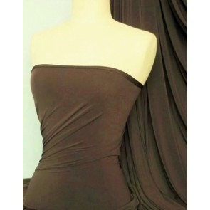 Earth Brown 4 Way Stretch Soft Touch Fabric Q36 EBR