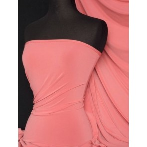 Light Coral 4 Way Stretch Soft Touch Fabric Q36 LTCRL