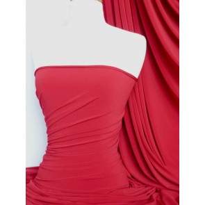 Tomato Red 4 Way stretch soft touch lycra Q36 TRD