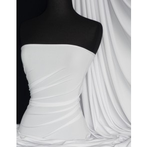 White 4 way stretch soft touch lycra jersey fabric Q36 WHT