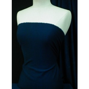 Navy Ponte Double Knit 4 Way Stretch Jersey Q37 NY