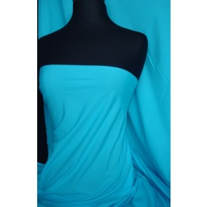 Turquoise 4 Way Stretch Light Jersey Fabric Q450 TQ