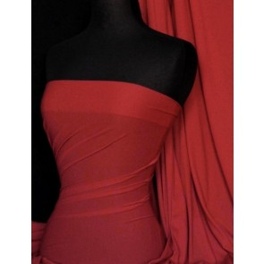 Deep Red 4 Way Stretch Light Jersey Fabric Q450 DRD