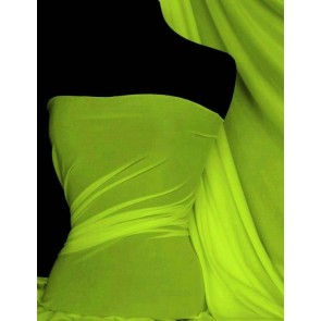 Flo Lime 4 Way Stretch Light Jersey Fabric Q450 FLLM