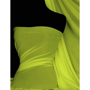 Flo Yellow 4 Way Stretch Light Jersey Fabric Q450 FLYL