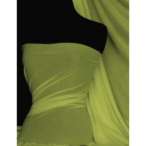 Lime Green 4 Way Stretch Light Jersey Fabric Q450 LMGR