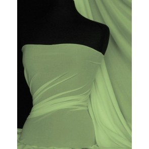Pastel Green 4 Way Stretch Light Jersey Fabric Q450 PSGR