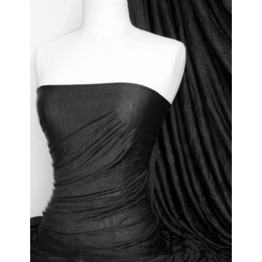 Black 100% Crushed Viscose Stretch Fabric Q517 BK
