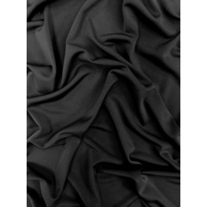 56 METRES Black Silk Touch 4 Way Stretch Lycra Fabric Wholesale Roll Q53B BK