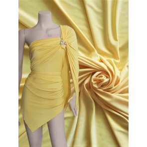 Canary Yellow Silk Touch 4 Way Stretch Jersey Lycra Q53 CYL