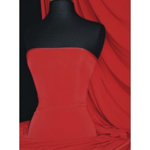 Red Silk Touch 4 Way Stretch Jersey Lycra Fabric Q53 RD