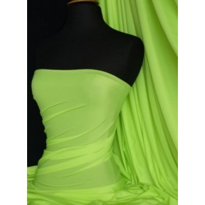 Bright Lime Green Shiny Lycra 4 Way Stretch Fabric Q54 BLM