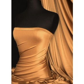 Cobre Shiny Lycra 4 Way Stretch Fabric Q54 CBR