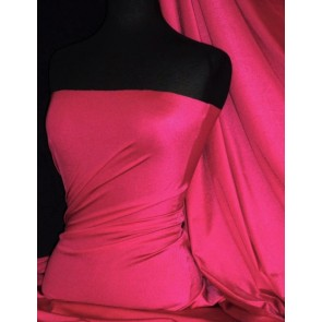 Clearance Hot Pink Shiny Lycra 4 Way Stretch Lightweight Material SQ68 HTPN