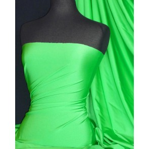 Kelly Green Shiny Lycra 4 Way Stretch Fabric Q54 KGR