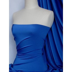 Royal Blue 4 Way Stretch Shiny Lycra Fabric Q54 RBL