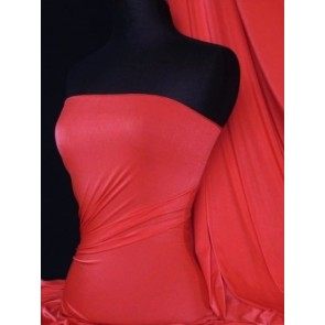 Tomato Red Shiny Lycra 4 Way Stretch Fabric Q54 TMRD