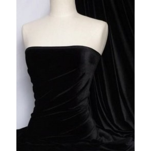 Black Velvet / Velour 4 Way Stretch Spandex Lycra Q559 BK