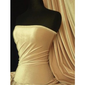 Champagne Velvet 4 Way Stretch Spandex Q559 CHAMP