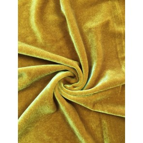 Mustard Velvet/Velour 4 Way Stretch Spandex Lycra Fabric Q559 MSTD