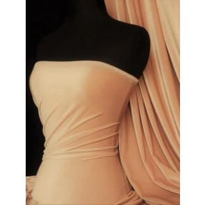 Peach Velvet/Velour 4 Way Stretch Spandex Lycra Fabric Q559 PCH