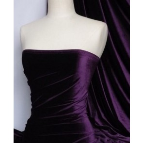 Purple Velvet/Velour 4 Way Stretch Spandex Lycra Fabric Q559 PPL