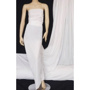 White Velvet/Velour 4 Way Stretch Spandex Lycra Fabric Q559 WHT