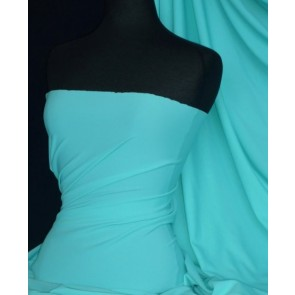 Aqua Matt Lycra 4 Way Stretch Fabric Q56 AQ