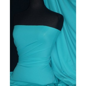 Light Turquoise Matt Lycra 4 Way Stretch Fabric Q56 LTTQS