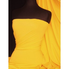 Mid Yellow Matt Lycra 4 Way Stretch Fabric Q56 MDYL