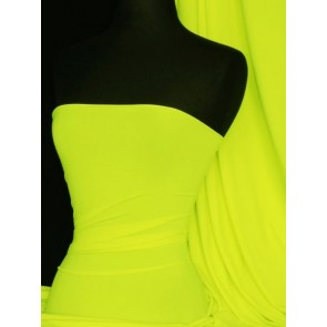 Neon Yellow Matt Lycra 4 Way Stretch Fabric Q56 NYL