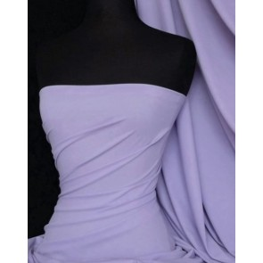 Pastel Lilac Matt Lycra 4 Way Stretch Fabric Q56 PLLC