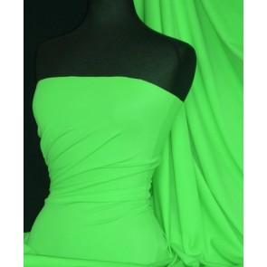 Parrot Green Matt Lycra 4 Way Stretch Fabric Q56 PRGR