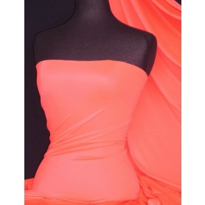 Salmon Pink Matt Lycra 4 Way Stretch Fabric Q56 SPN