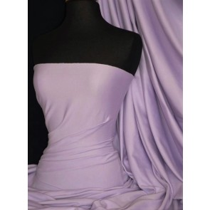 Lilac Cotton Lycra Jersey 4 Way Stretch Material Q35 LIL