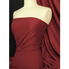 Maroon Cotton Lycra Jersey 4 Way Stretch Fabric Q35 MRN