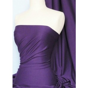 Purple Cotton Lycra Jersey 4 Way Stretch Material Q35 PPL
