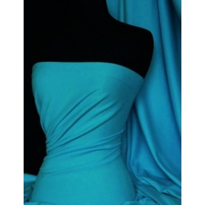 Dark Turquoise Soft Fine Rib 100% Cotton Knit Material Q61 DTQS