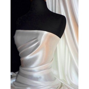 Ivory Super Soft Satin Fabric Q710 IV