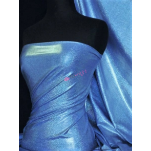 Royal Blue Mystique Hologram Foil Nylon Lycra 4 Way Stretch Fabric Q781 RBL